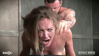 Two brutal dudes fuck sex-hungry and tied up harlot Mona Wales