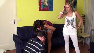 Femdom ladies humiliate slaves