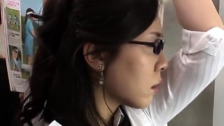 Japanese Cheating Wife Groped In Bus Near Cuckold Hubby