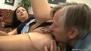 Pussy eating  pantyhose