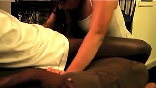 Wild brunette wife cuckolds her husband with two black studs