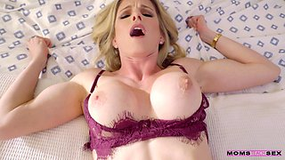 Sexy MILF stepmom Cory Chase can't help but fuck her stepson