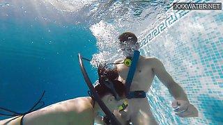 Hot Underwater Blowjob and Hand Job by Polina Rucheyok