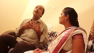Indian surekha  aunty with old man hardcore sex