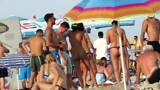 HOT Bikini Amateur TOPLESS Teens - Spy Beach Video