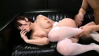 Stacked Japanese milf satisfying her lust for hardcore sex