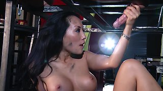 Drilling Asa Akira in her Asian pornstar pussy