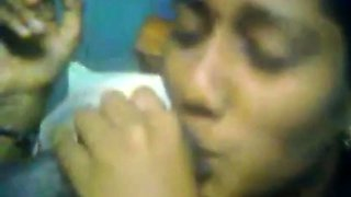 Desi girl smoking and giving blowjob