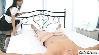 Subtitled Japanese maids nude oil massage foursome