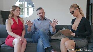 Naughty secretary Nicole Aniston sprayed with cum in the office
