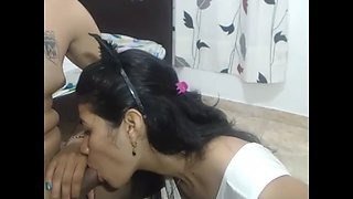 Indian teen nethra blowjob on webcam