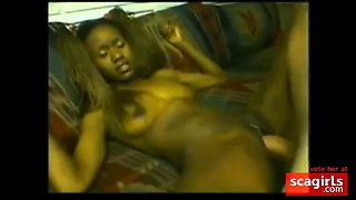 BLEACHED: African goddess bred by white cock creampie Ebony