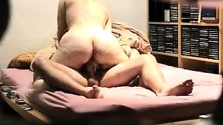 Exciting amateur wife with a wonderful ass rides her lover