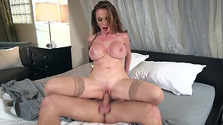 MILF nurse helps her patient to defeat the disease with help of sex