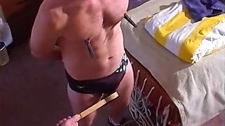 I bash young stud's balls in his speedo