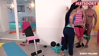 LETSDOEIT Stepdad Gym Sex With Anna Rose & Mellisa Meddison