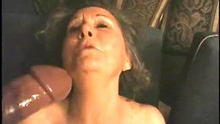 Grannies enjoy sucking on big black boners