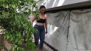 MomPov Alessandra 32yo Sexy Latin Milf Outside BTS 720p