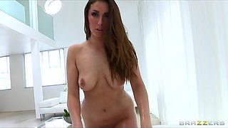 Brazzers - Big-booty redhead Paige Turnah oiled up for anal