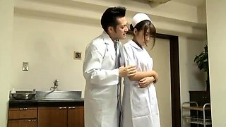 Busty Asian nurse needs a hard cock filling her wet pussy