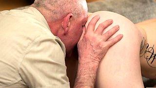 DADDY4K. Skinny peach speaks Russian to BFs dad