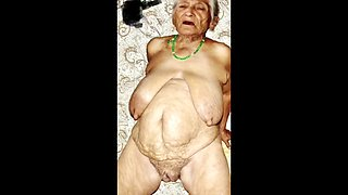 Unload your balls in grannie&#039s jaws!