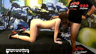 Little Lia Louise is back for more Monster Cock - GGG