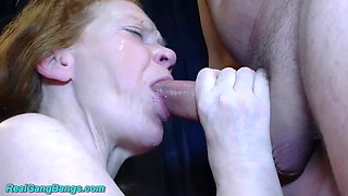 Moms first gangbang
