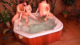 brothers and sisters in jacuzzi