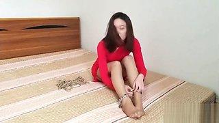 CHINESE Model恋足屌丝的艳遇