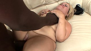 Blonde midget Stella has a black bull taking care of her sexual needs