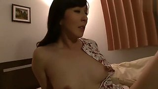 Reiko Sawamura sucker big black dick next to husbang sleeping