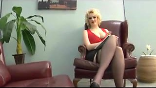 Platinum Blonde Doctors Foot, Cunt and Anus-Worship Therapy