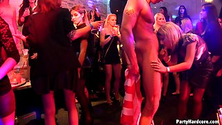 CFNM models love to be fucked by male strippers during a party