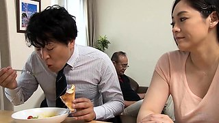 Curvy Japanese milf gets rammed hard and sprayed with jizz