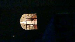 hot neighbor neighbour flashing in the window again