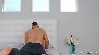 BRAZZERS Tiny Teen Kenzie won  t take no for Morning Sex