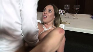 Curvy bride enjoys an incredible sex action with her best