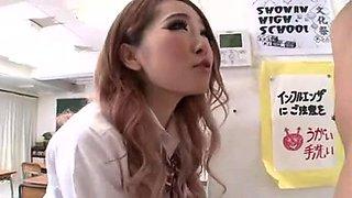 Japanese schoolgirls in control