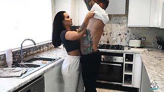 Sexy Amateur Babe Jess Assfucked On Kitchen Floor