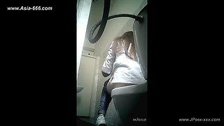peeping blondes go to toilet.73