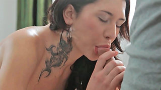 Gerta receiving cunnilingus and perfomring fellatio during very steamy massage