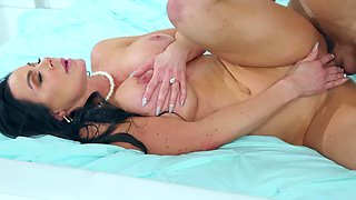 Sexy Kendra Lust with big tits gets fucked wearing pink lingerie