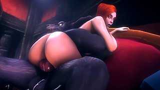Game Sluts Gets Brutal Fucks in Their Animated Pussies