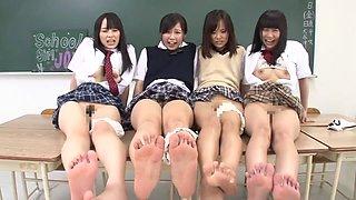Rin Momoi, Ruka Kanae, Yuri Shinomiya, Aimi Usui in Masturbation Instruction 3 Pretty JK part 6