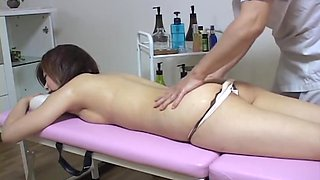 Hairy babe enjoys some toying in genuine Japanese sex style
