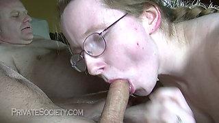 Heidi getting fucked by her sugar daddies