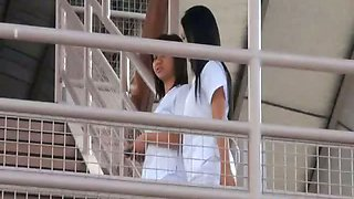 Two sexy Filipina nurses give special care to lucky male