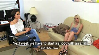 FemaleAgent Taut golden-haired anal casting