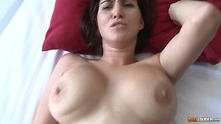 Awesome MILF with big boobs is so happy that she cannot stop riding cock